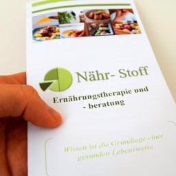 Der Flyer zur Nähr-Stoff Ernährungstherapie und -beratung